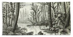 Prehistoric Flora, Carboniferous Bath Towel