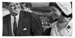 President And Mrs. Kennedy Bath Towel