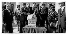 President John F. Kennedy Receives Hand Towel