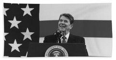 President Reagan American Flag  Hand Towel