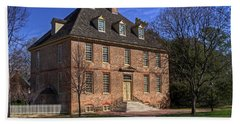 Hand Towel featuring the photograph President's House College Of William And Mary by Jerry Gammon
