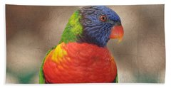 Pretty Bird - Rainbow Lorikeet Bath Towel