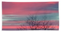 Pretty In Pink Sunrise Bath Towel