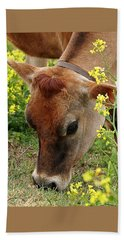 Pretty Jersey Cow Square Hand Towel