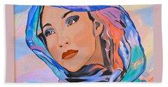 Pretty Lady Hand Towel by Phyllis Kaltenbach
