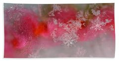 Hand Towel featuring the photograph Pretty Little Snowflakes by Lauren Radke