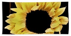 Pretty Macro Sunflower Hand Towel