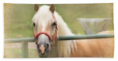 Pretty Palomino Horse Photography Bath Towel by Eleanor Abramson