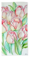 Pretty Tulips Bath Towel