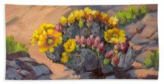 Prickly Pear Cactus In Bloom Hand Towel by Diane McClary