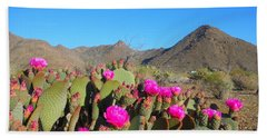 Prickly Pear In Spring Hand Towel