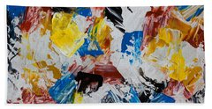 Bath Towel featuring the painting Primary Plus by Heidi Smith