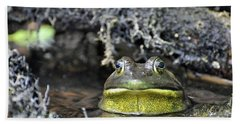 Hand Towel featuring the photograph Bullfrog by Glenn Gordon