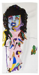 Hand Towel featuring the painting Prince Purple Reign by Stormm Bradshaw