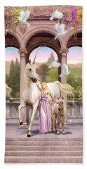 Princess Of The Unicorns Variant 1 Hand Towel by Garry Walton