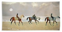 Princeteau's Riders On The Beach At Dieppe Bath Towel by Cora Wandel