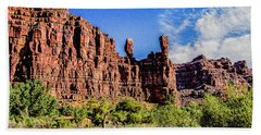 Private Home Canyon Dechelly Hand Towel by Bob and Nadine Johnston