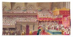 Procession Of The Dean And Prebendaries Of Westminster Bearing The Regalia, From An Album Bath Towel