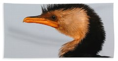 Profile Of A Young Cormorant Bath Towel