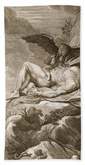 Prometheus Tortured By A Vulture, 1731 Hand Towel