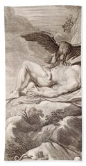 Prometheus Tortured By A Vulture Hand Towel