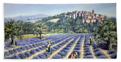 Bath Towel featuring the painting Provencal Harvest by Rosemary Colyer