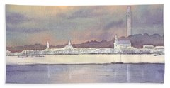 Provincetown Evening Lights Bath Towel by Bill Holkham