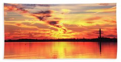 Provincetown Harbor Sunset Hand Towel by Roupen  Baker