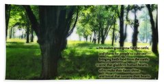 Psalm 104 Bath Towel