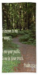 Psalm  - Paths Hand Towel by Sharon Elliott