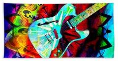 Psychedelic Guitar Hand Towel