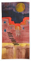 Pueblito Original Painting Hand Towel