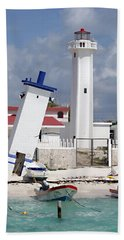 Puerto Morelos Lighthouse Hand Towel