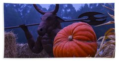 Pumpkin And Minotaur Hand Towel