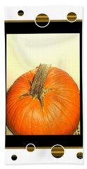 Pumpkin Card Bath Towel