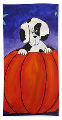 Pumpkin Problems Hand Towel by Kenny Francis
