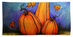 Pumpkin Trio Bath Towel