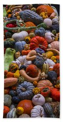 Pumpkins And Gourds Pile Bath Towel