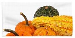 Pumpkins And Gourds Bath Towel