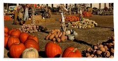 Hand Towel featuring the photograph Pumpkins by Michael Gordon