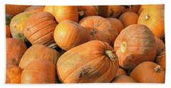 Bath Towel featuring the digital art Pumpkins by Ron Harpham