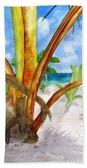 Punta Cana Beach Palm Bath Towel by Carlin Blahnik