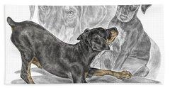 Puppy Love - Doberman Pinscher Pup - Color Tinted Hand Towel