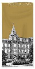 Purdue University - University Hall - Brass Hand Towel