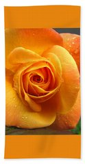 Bath Towel featuring the photograph Pure Gold - Roses From The Garden by Brooks Garten Hauschild