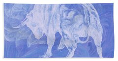 Purple Bull Negative Bath Towel