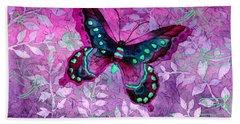 Purple Butterfly Hand Towel