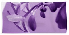 Purple Charm Hand Towel