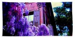 Purple Cheer Hand Towel by Zafer Gurel