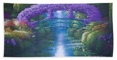 Purple Connection Hand Towel